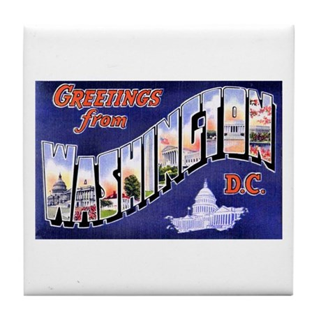 Washington, D.C. Greetings Tile Coaster