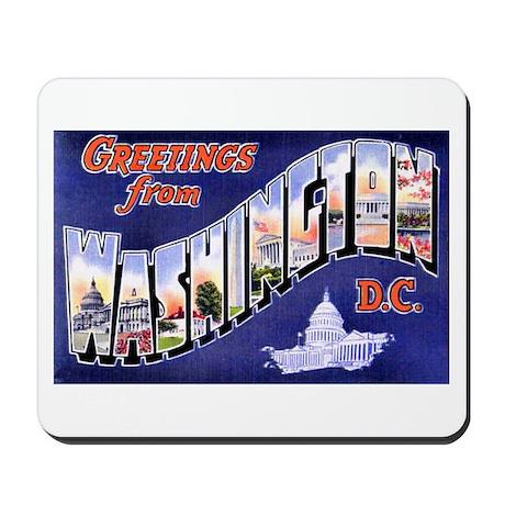Washington, D.C. Greetings Mousepad