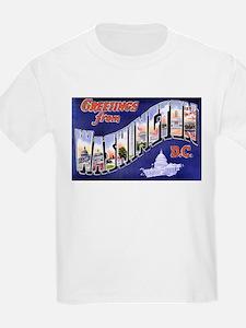 Washington, D.C. Greetings (Front) Kids T-Shirt