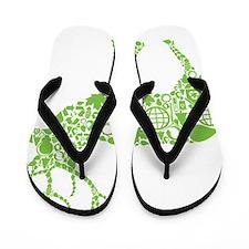 Going Green Flip Flops