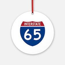 I-65 Highway Ornament (Round)