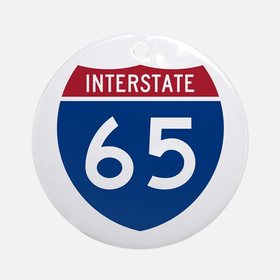 I-65 Highway Ornament (Round)