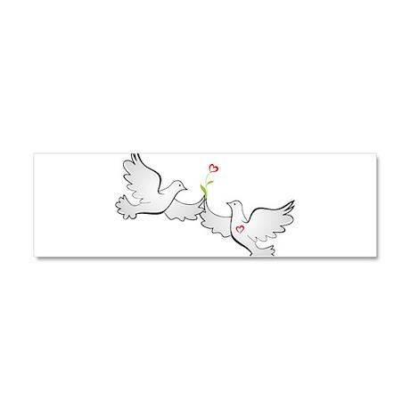 Love Doves Car Magnet 10 x 3