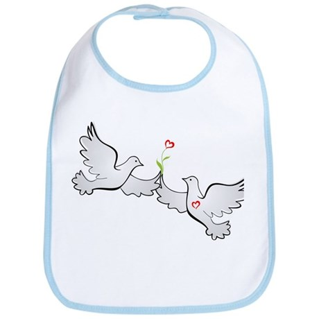 Love Doves Bib