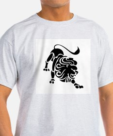 Leo - The Lion Ash Grey T-Shirt