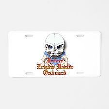 Future zombie hunter Aluminum License Plate