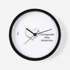 I heart Chesapeake Bay Retrievers Wall Clock
