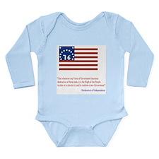 Bennington Flag Long Sleeve Infant Bodysuit