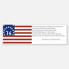 Bennington Flag Bumper Bumper Sticker
