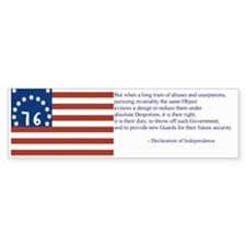 Bennington Flag Bumper Sticker