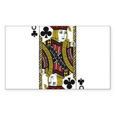Jack of Clubs Decal