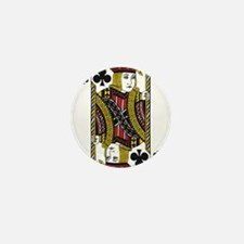 Jack of Clubs Mini Button