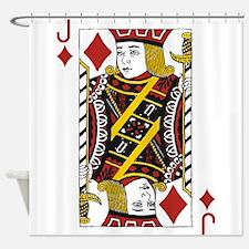 Jack of Diamonds Shower Curtain