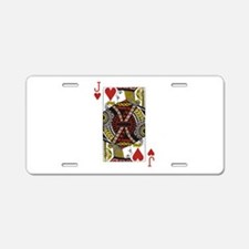 Jack of Hearts Aluminum License Plate