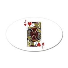 Jack of Hearts Wall Decal