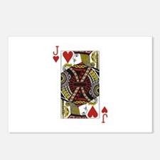 Jack of Hearts Postcards (Package of 8)