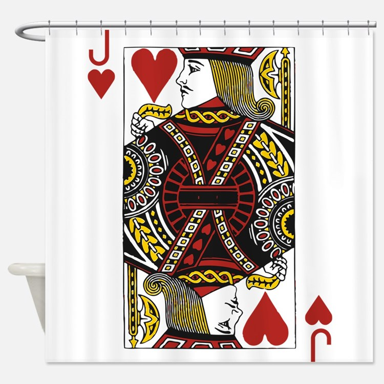 Jack of Hearts Shower Curtain
