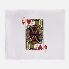 Jack of Hearts Throw Blanket