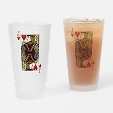 Jack of Hearts Drinking Glass