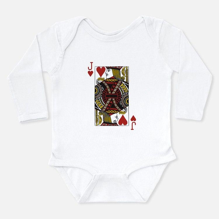 Jack of Hearts Long Sleeve Infant Bodysuit