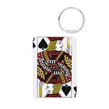 Jack of Spades Aluminum Photo Keychain