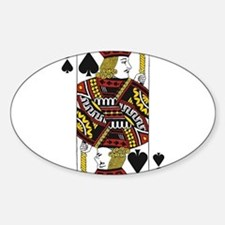 Jack of Spades Sticker (Oval)