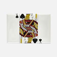 Jack of Spades Rectangle Magnet