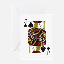 Jack of Spades Greeting Card