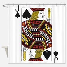 Jack of Spades Shower Curtain