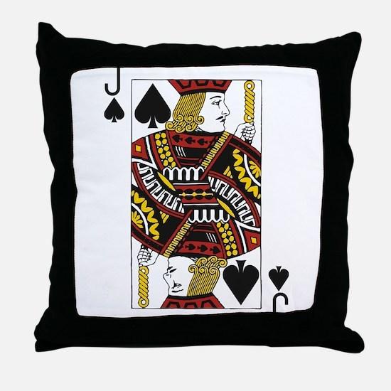 Jack of Spades Throw Pillow