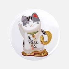 "Lucky Cat 3.5"" Button"