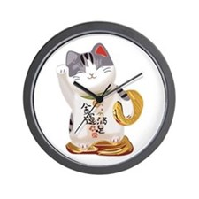 Lucky Cat Wall Clock