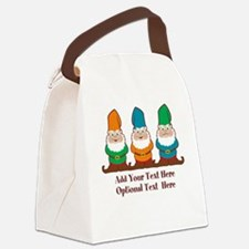 Gnomes Design Canvas Lunch Bag