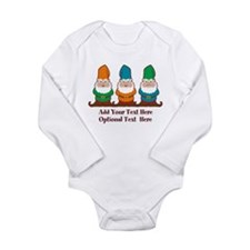 Gnomes Design Long Sleeve Infant Bodysuit