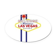 Welcome to Las Vegas Oval Car Magnet