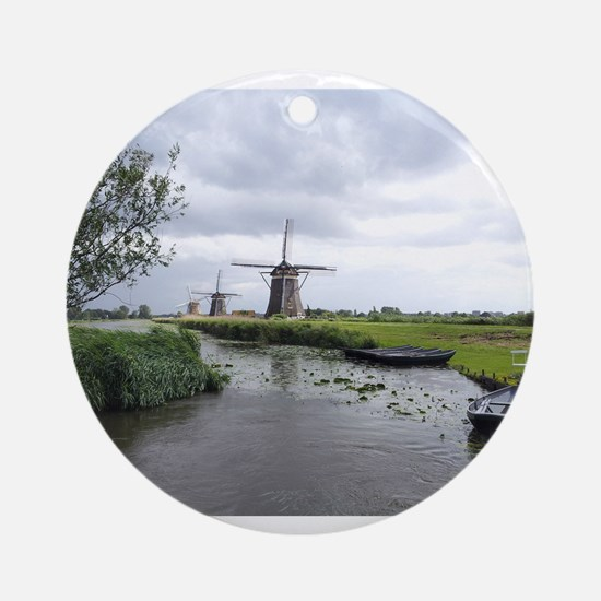 Dutch windmills Ornament (Round)