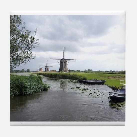 Dutch windmills Tile Coaster