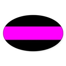 Police Thin Line Against Cancer Decal