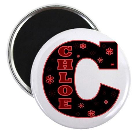 Chloe Letterman Design Black Magnet