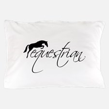 Equestrian w/ Jumping Horse Pillow Case