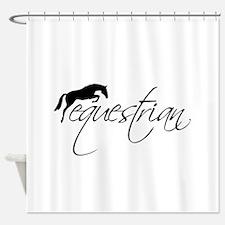 Equestrian w/ Jumping Horse Shower Curtain