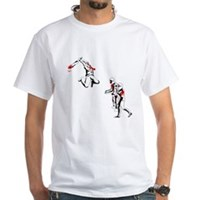 Cricket Bat Zombies White T-Shirt