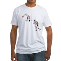 Cricket Bat Zombies Fitted T-Shirt