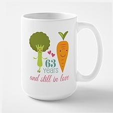 63 Year Anniversary Veggie Couple Mugs
