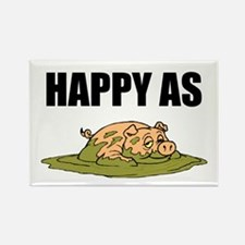 Cool Happy pig Rectangle Magnet (10 pack)