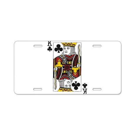 King of Clubs Aluminum License Plate