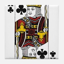 King of Clubs Tile Coaster