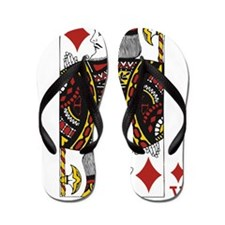 King of Diamonds Flip Flops