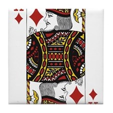 King of Diamonds Tile Coaster