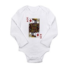 King of Diamonds Long Sleeve Infant Bodysuit